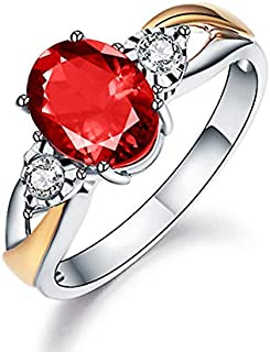 kayjoon 925 Silver Elliptical Perfect Cutting 3ct CZ Engagement Rings for Women Cubic Zirconia Promise Halo Engagement Rin...