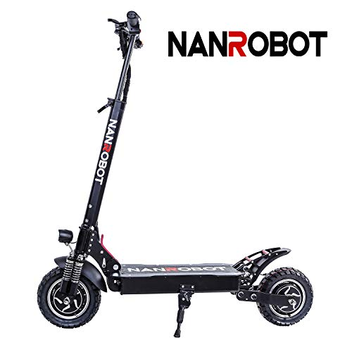 NANROBOT D4 + 2000 W Adult Electric scooter Foldable and light with 70 km Battery up to Long range 65km / h D4 + 23AH Version without seat