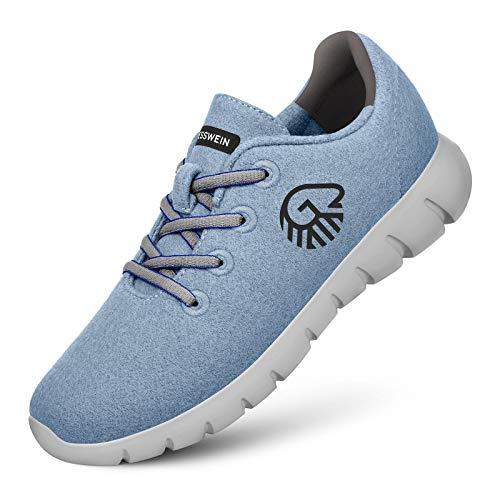 GIESSWEIN Merino Runners Women - Atmungsaktive Sneaker für Damen aus 100% Merino Wolle, Sportliche Schuhe, Halbschuh, Freizeitschuh, Damenschuhe