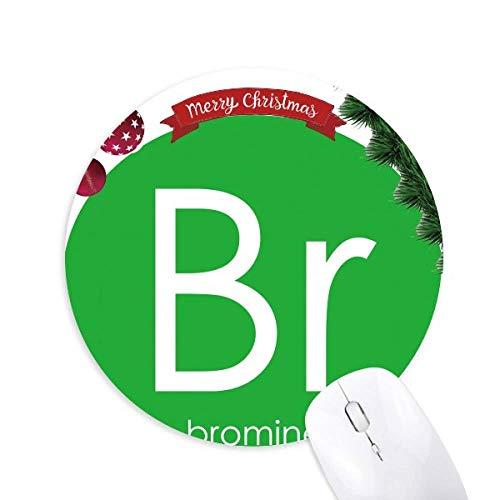Chemie Elemente Periodische Tabelle Halogene Element Bromin Br Rund Gummi Maus Pad Weihnachtsbaum Mat