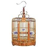 Jaula De Pájaros Tallada A Mano Hueca Zorzal De Gama Alta, Paloma, Jaula De Pájaros Estorninos Jaula De Pájaros Ornamentales Jaula Ornamental Grande De 30/33/36 Cm Jaula De Bambú Universal Tejida A Ma
