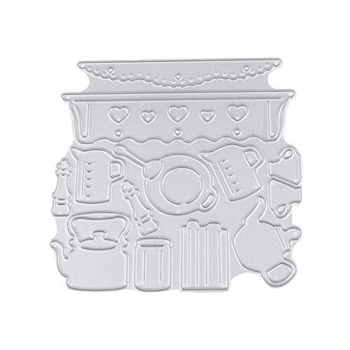 Suministros de cocina Metal Metal de Corte Troqueles de Tarjetero en relieve Plantilla DIY Álbum de recortes Tarjetas de Papel Artesanía Decoración Artesanía
