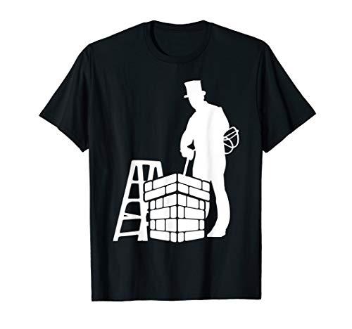 Schornsteinfeger Glücksbringer mit Leiter, Kaminbesen & Hut T-Shirt