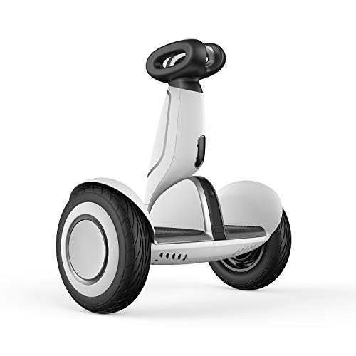 S-Plus Smart Self-Balancing Electric Scooter with Intelligent Lighting and Battery System, Remote Control and Auto-Following Mode, White $599.99