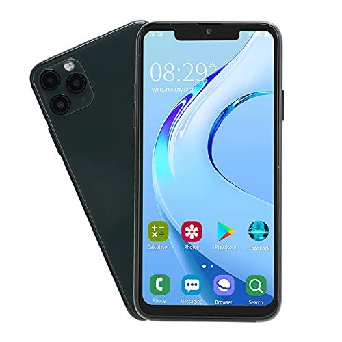 Smartphone desbloqueado, teléfono con pantalla Bang de 6.5 pulgadas, teléfono móvil con doble modo de espera de tarjeta dual 1 + 16G, batería de carga rápida de 100-240 V, 4800 mAh(Enchufe de la UE)