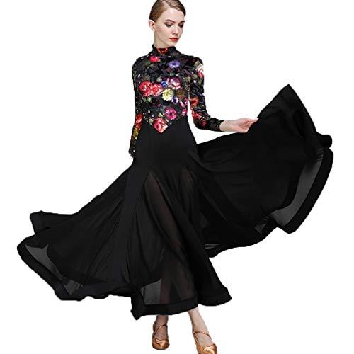 Dames standaard Flamenco balzaal rok fluweel modern dans rok balzaal dans balzaal dans wedstrijd grote schommeljurk
