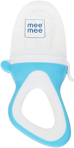 Mee Mee Fruit and Food Nibbler (with Silicone Sack, Blue)
