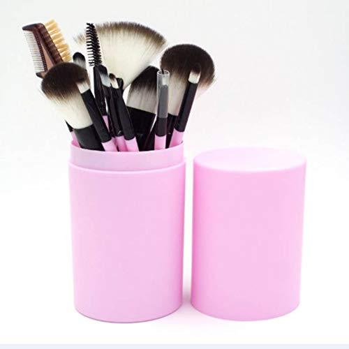 12 pcs/ensemble Maquillage Pinceau Ensemble Professionnel Cosmétique Brosse Visage Maquillage Fondation Poudre Blush Eyeliner Brosses