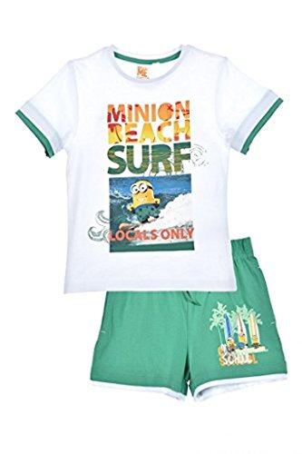 """Minions Ich einfach unverbesserlich T-Shirt und Shorts Set \""""Beach oder Undercover\"""" Weiß 98"""