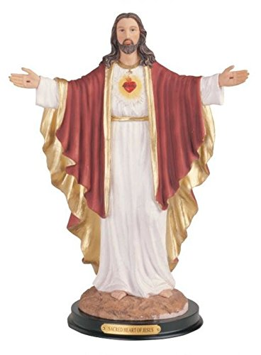 """George S. Chen Imports Sacred Heart Of Jesus Holy Figurine Religious Decor, 12"""""""