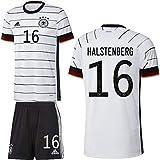 adidas UEFA Fußball DFB Deutschland Heimset EM 2020 Home Kit Trikot Shorts Herren Halstenberg 16 Gr S