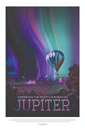 Visions Of the Future NASA - Planet Jupiter Mighty Auroras Universe Poster 61x91.5cm