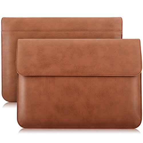 MoKo 13,3 Zoll PU Sleeve Schutzhülle, Laptoptasche für iPad Pro 12.9 2021/Apple MacBook Air 13,3