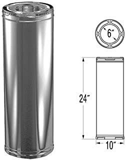 6'' x 24'' DuraPlus Stainless Steel Chimney Pipe - 9021SS