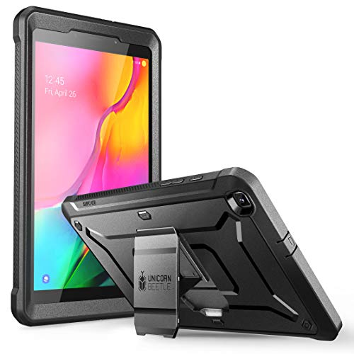 SUPCASE [Unicorn Beetle Pro] Case Designed for Galaxy Tab A 8.0 (SM-T295/SM-T290), with Built-in Screen Protector Full-Body Rugged Heavy Duty Case for Galaxy Tab A 8.0 2019 Release (Black)