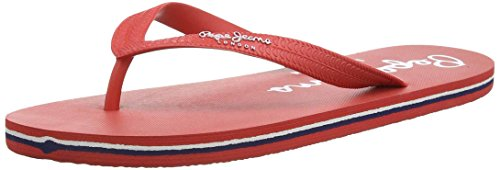Pepe Jeans London Herren Swimming Basic Zehentrenner, Rot (275CHILLI RED), 44