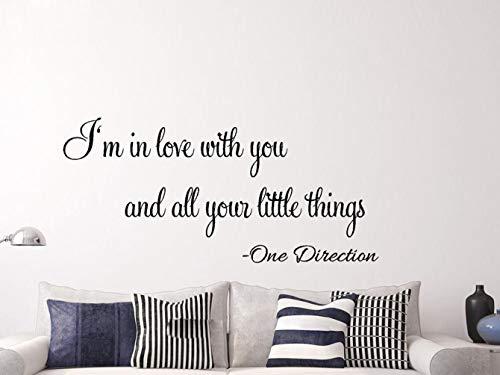 etiqueta de la pared decoración One Direction Little Things Song Lírico Arte de la Pared Pegatinas Casa Decoración Bricolaje Decoración de la habitación para la sala de estar