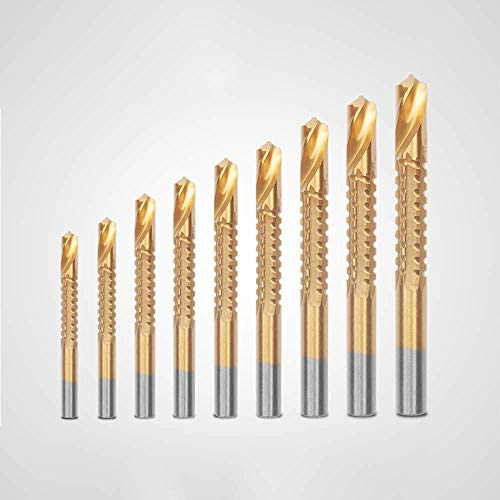 DERUN TRADING ツイストドリル ドリルビットセット 電気ドリル 木工用ドリルビット 金工用ドリルビット 麻花ドリルビットセット 金属 鉄工用 木工用ドリルソーセット 皿取りドリルビット 6本組 (3mm、4mm、5mm、6mm、6.5mm、8m