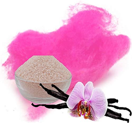 100g Aromazucker Vanille Pink Zucker für bunte Zuckerwatte Farbaromazucker und Dekorzucker für Zuckerwattemachinen
