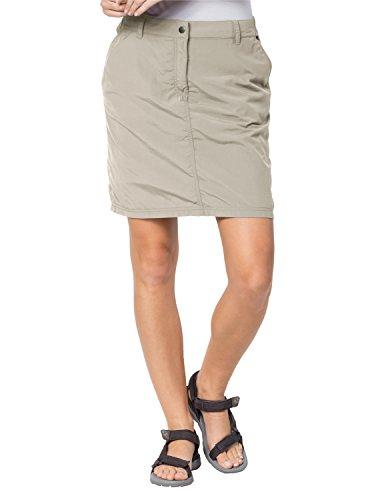 Jack Wolfskin Falda para Mujer, otoño/Invierno, Skort, Mujer, Color Beige (Light Sand), tamaño 42