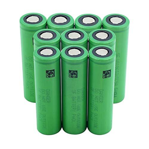 CNMMGL Batería De 3.6v 2600mah Us18650vtc5a 18650, Batería Protegida De Carga del Banco del Poder del Ventilador del Reemplazo 10pieces