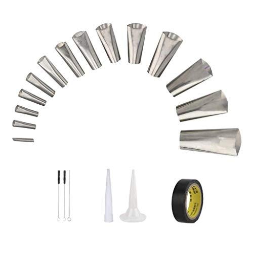 TISHITA 20 stück Abdichten Finisher Kit, Caulk Düse Applikator Edelstahl Dicht Finishing Werkzeug für Küche Badezimmer Fenster