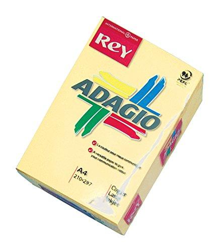 Dohe 30201 - Pack de 500 hojas de papel, A4, color amarillo