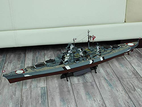 QAQ Modelo de Barco de simulación de Acorazado ensamblado a Mano Barco de Guerra de la Segunda Guerra Mundial