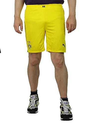 PUMA Borussia Dortmund BVB Shorts Promo with innerslip Herren Hose gelb, Bekleidungsgröße:M