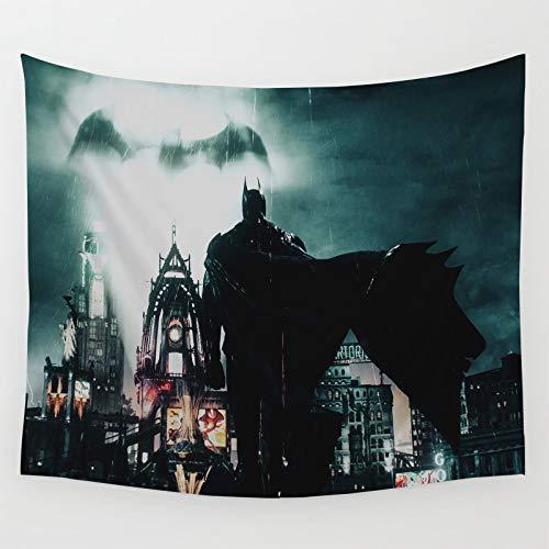 Tapices para la habitación Colorida Decoración Batman Arkham Knight Juego de Ciudad en la lluvia captura de pantalla Dormitorio Decoración del Hogar 150x130cm