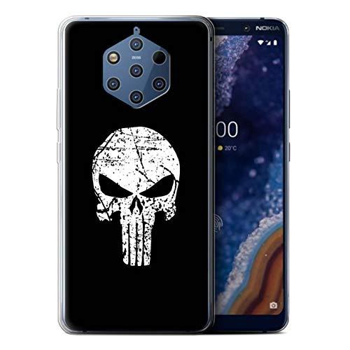 Hülle Für Nokia 9 PureView 2019 Antiheld Comic-Kunst Punisher Inspiriert Design Transparent Dünn Weich Silikon Gel/TPU Schutz Handyhülle Case