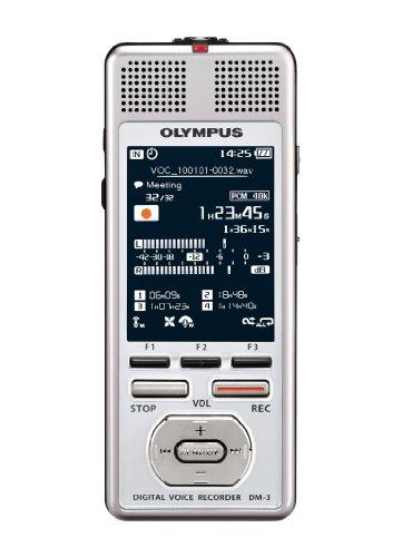 Olympus DM-3 Registratore Vocale Digitale Stereo, Silver