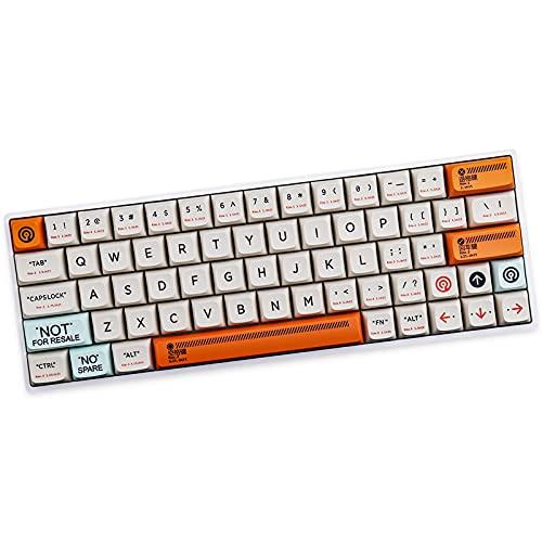 Sunzit Keycaps, PBT Keycap XDA Profile 141 Tasten Dye Sublimation Mechanische Tastatur Tastenkappe Kunststoff-Thema Kompatible MX-Switches Mechanische Tastatur