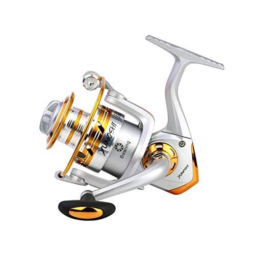 GYAM Carrete Pesca Giratorio, 5.1: 1 5.2: 1 Balancín Metal Intercambiable, Rueda Giratoria Izquierda Y Derecha, Pesca,1000