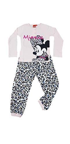 Sicem International Srl Pigiama per bambina Minnie in cotone jersey manica lunga (B2WD220089 CONFETTO, 6 ANNI)