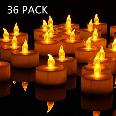 Nancia Tea Lights, 100PACK Flameless LED Tea Lights Candles, Flickering Warm Yellow, 100 Hours Battery-Powered Tea Light, Ideal Party, Wedding, Birthday, Gifts Home Decoration