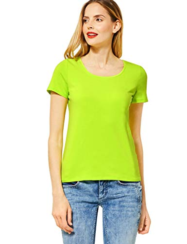 Street One Damen 315078 T-Shirt, Laser Lime, 40
