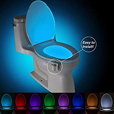 Multi-Color Motion Sensor LED Toilet Night Light – Light Detection Sensor– Cool New Fun Gadget for Him, Her, Men, Women or Birthday Kid – Funny Unique Gift Idea – Best Gag Mother's Day Present by ChillPRO