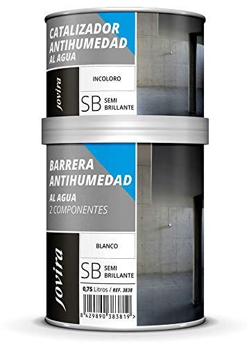 BARRERA ANTIHUMEDAD AL AGUA 2 COMPONENTES. impermeabilizante. Protege fachadas, muros, paredes interior. Mejora adherencia ,cubre manchas. 750 ml