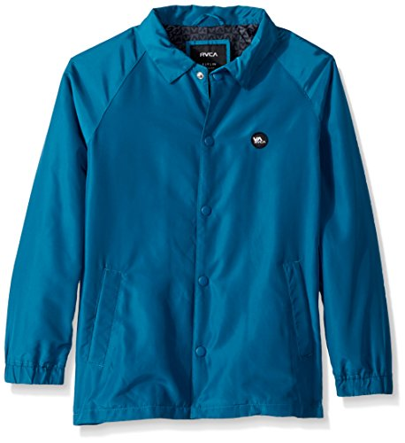 RVCA Boys' Atw Ii Coaches Jacket Teal Large