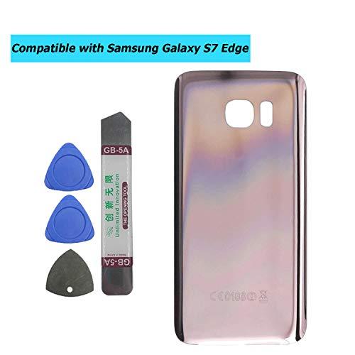Upplus - Tapa Trasera Compatible con Samsung Galaxy S7 Edge G935V, Color Rosa