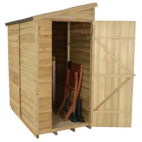 Forest Garden 6 x 3 Overlap Security Garden Shed - Pressure Treated