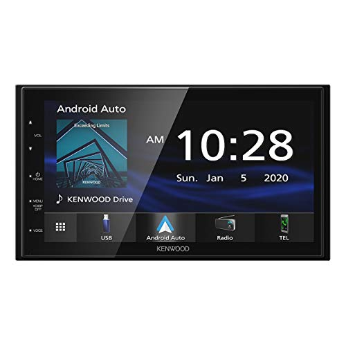 Kenwood DMX4707S 6.8' Capacitive Touch screen Digital Multimedia Receiver with Apple CarPlay & Android Auto (does not play CDs)