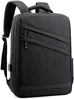 Fyuanmeiibb Backpack, Fashion Backpack Men Backpack Brand 15.6inch. (Color : Black)