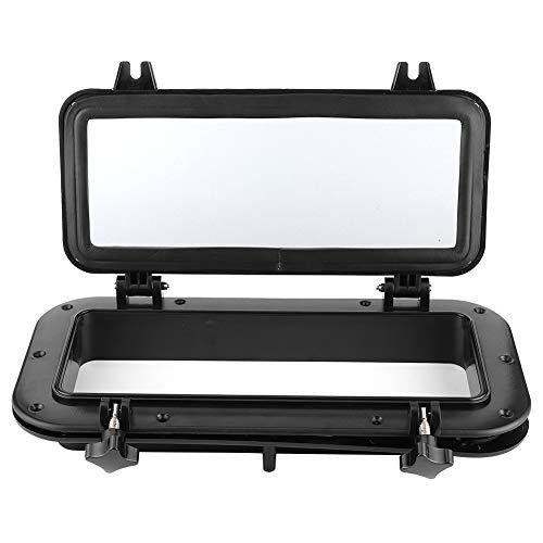 Bigking Bullauge, 4 mm Öffnung Portlight Rechteckiges Bullauge Temperglas UV-beständiges Fenster für Bootsjacht 400x200mm