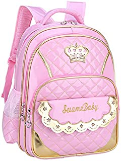 KHDJH Mochila Infantil Nuevo Kawaii Kids Escuela Bolsas para Niña Princesa Jerseback School Mochila Niños Libro Bolsa Impermeable Escuela Entrenador Pink S