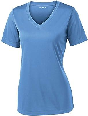 Joe's USA Women's Short Sleeve Moisture Wicking Athletic Shirt-Carolina-3XL