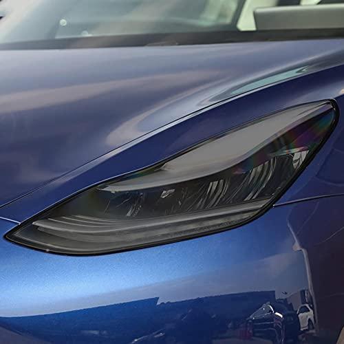 YYHHADM Car Headlight Protective Film Taillight Smoked Black Tint Wrap Vinyl Transparent TPU Sticker,for Tesla Model 3 2019 2020 2021