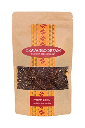 Desert Hills - Okavango Dream Rooibos Chai | Pfeffer & Chili | Lose Teemischung | Wohltuender Kräutertee | 100 g
