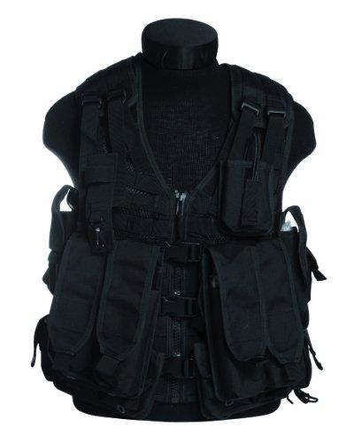 Taktikweste AK74, mit Taschen, MOLLE, Schwarz